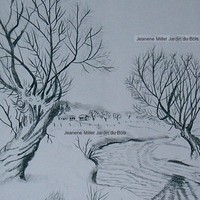 Trees by the Creek in Snow Pencil Drawing