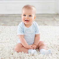 Baby Aspen BA16109BL Little Prince Bodysuit and Socks Personalization Available
