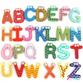 Colorful  Wooden Number & Alphabet Refrigerator Magnets.  Age group birth to 4Y