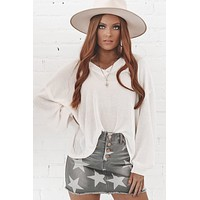 Take Me To The Ocean Ivory Long Sleeve Top