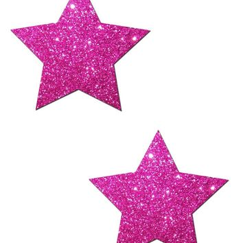 Star Solid Glitter Pasties (Available in 7 Colors)