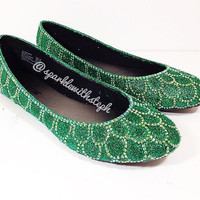 Mermaid Fin Shoes - Ariel Fin Shoes - Little Mermaid Shoes - Glitter Heels - Glitter Flats