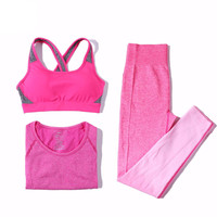 Women Sport Yoga Sets Fitness Elasitic Sportswear Sets for Gym Running Jogging Bodybuilding Suits Woman Yoga Clothing