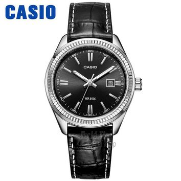 Casio watch Simple leather black plate calendar quartz female watch LTP-1302L-1A LTP-1302L-7B LTP-1302D-7A1 LTP-1302D-7A2