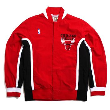 Chicago Bulls 1992-93 Authentic Warm Up Jacket Red