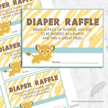 Lion King Simba Diaper Raffle Tickets