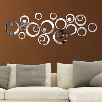Mirror Environmental Relief Sculpture Wall Sticker [4918607428]