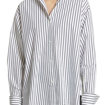 FRAME Stripe Cotton Blouse | Nordstrom