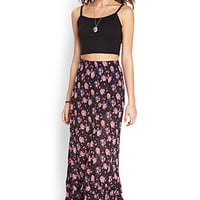 FOREVER 21 Tiered Floral Maxi Skirt