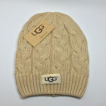 Ugg Women Embroidery Beanies Knit Hat Warm Woolen Hat-6