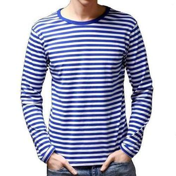 bf7496772dd Slim Fit Sailor s Striped Shirt Long-Sleeved T-shirt