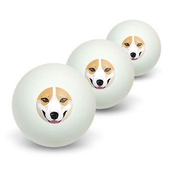 Pembroke Welsh Corgi Face - Dog Pet Novelty Table Tennis Ping Pong Ball 3 Pack