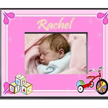 Personalized  Children's Frames - Girl Blocks