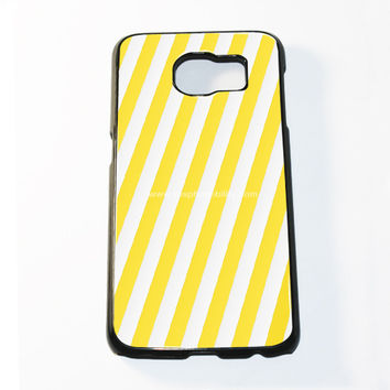 Yellow Stripe Samsung Galaxy S6 and S6 Edge Case