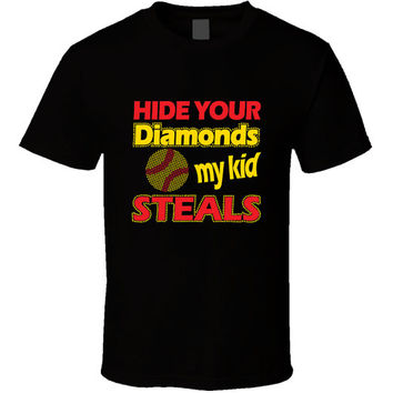 Hide Your Diamonds - Softball Mom T-shirt