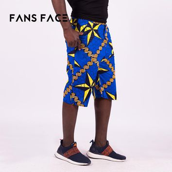 FANS FACE New Men Beach pants 2018 Traditional African Pattern African Clothing Dahiki Trousers Plus Size Cotton material