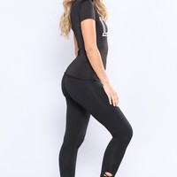 Vicky Cutout Active Leggings - Black
