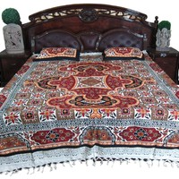 Tapestry Mogul Bedcover Mandala Dorm Decor Cotton Coverlet 2 Pillowcases