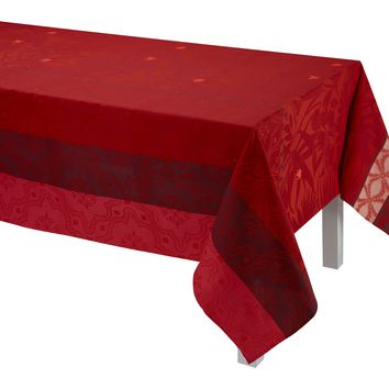 Bahia Red Table Linen by Le Jacquard Français