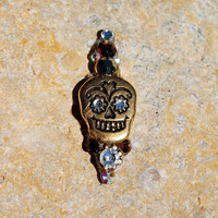 SUGAR SKULL Gold Bindi