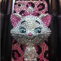 3D handmade rhinestone cat iphone 5 case iphone 4 case iphone 4s case 3D iphone cover