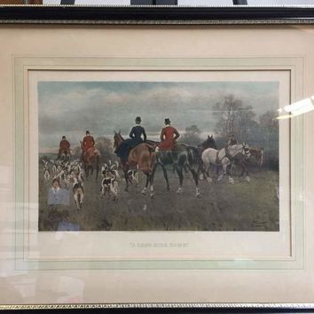 Gilbert Scott Wright (British, 19th Century) Suite of Four Fox Hunting Equestrian Scenes