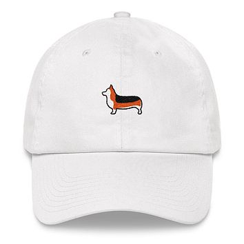 Tri-Color Corgi Dad hat