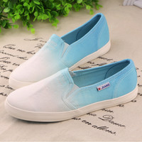 forever2you — GRADIENT CUTE COLORFUL CANVAS SHOES 001