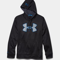 Under Armour Storm Armour Twist Fleece Big Logo Hoodie for Men in Black 1259778-001