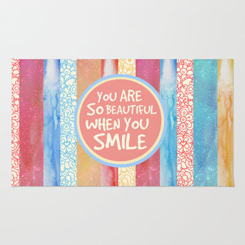 When You Smile Area & Throw Rug by Tangerine-Tane