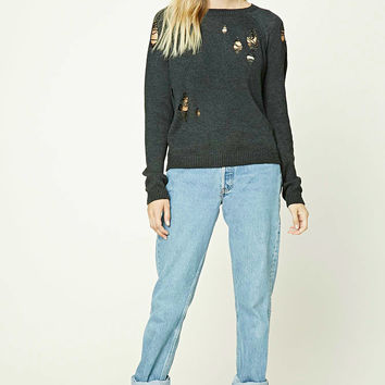 Contemporary Distressed Sweater