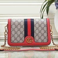Gucci Women Fashion Leather Satchel Shoulder Bag Crossbody