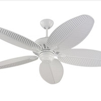 Montecarlo Cruise 52'' 5 Blade White ABS Palm Ceiling Fan - 5CU52WH