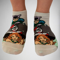 Batman Bad Girls No Show Socks 5 Pack