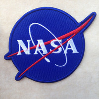 Blue Nasa Iron On Patch
