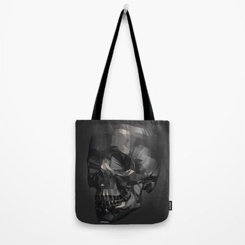 Skull in Low Poly Style Tote Bag by Taoteching / C4Dart
