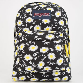 Jansport Superbreak Backpack Black Lucky Daisy One Size For Women 24843310001