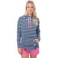 Skipper Stripe Hoodie in Yacht Blue by Southern Tide