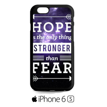 the hunger games hope quotes iPhone 6S  Case