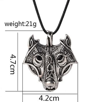 2017 Fashion Norse Vikings Pendant Necklace Norse Wolf
