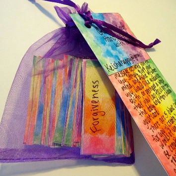 Hand painted guidance cards with inspirational words and messages, wedding favors, valentines day cards,birthday gifts,