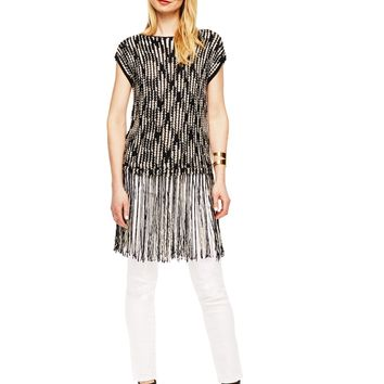 Vince Camuto Fringe Sweater