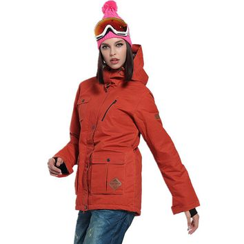 Free Shipping Warm Waterproof Female Ski Wear Coat Winter Ski Jacket Women Hooded Snowboarding Jacket Thermal Ski Wear In Winter