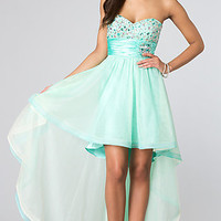 Strapless High Low Dress for Prom