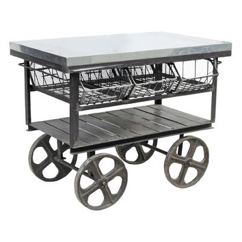 Hip Vintage Ltd Factory Station Cart - Grey