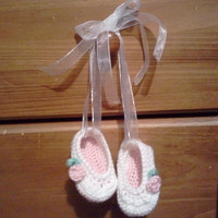 Newborn Photo Prop Ballerina Slippers