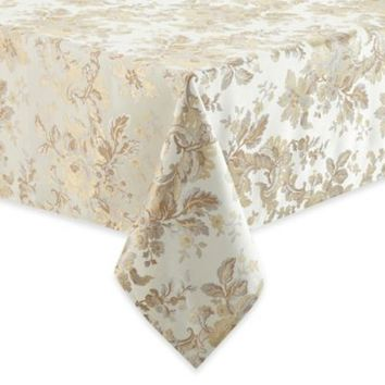 Waterford® Linens Marcelle Tablecloth in Ivory