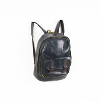 R e s e r v e d Vintage black doc martens backpack rucksack / dr marten backpack / vinyl backpack / shoulder bag / back to school