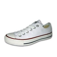 CONVERSE CHUCK TAYLOR WHITE LOW TOP  CANVAS NEW IN BOX SIZES 3.5 TO 12