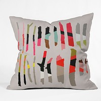 Garima Dhawan Painted Twigs 1 Throw Pillow